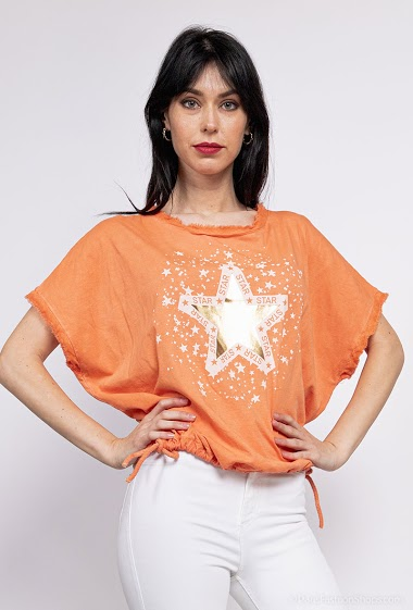 plain oversize Stars top and tight bottom - For Her Paris