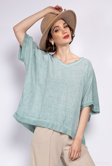 Top oversize uni - For Her Paris