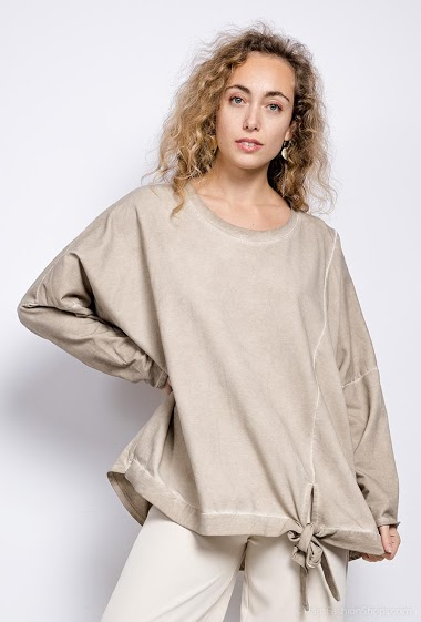 plain oversized top - For Her Paris