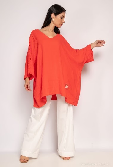 Plain top in cotton - For Her Paris