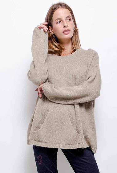 plain knit top round neck - For Her Paris