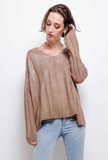 plain knit top V neck - For Her Paris