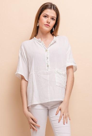 Top linen / cotton - For Her Paris