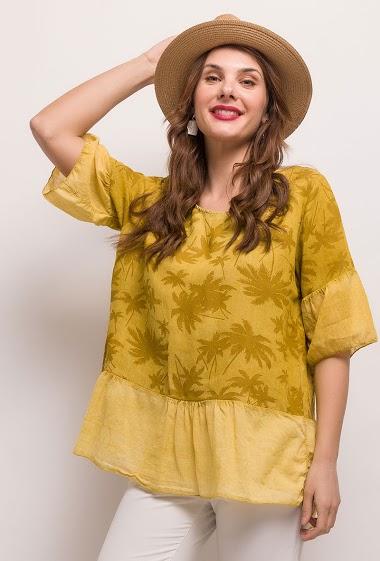 Linen / Cotton Top - For Her Paris