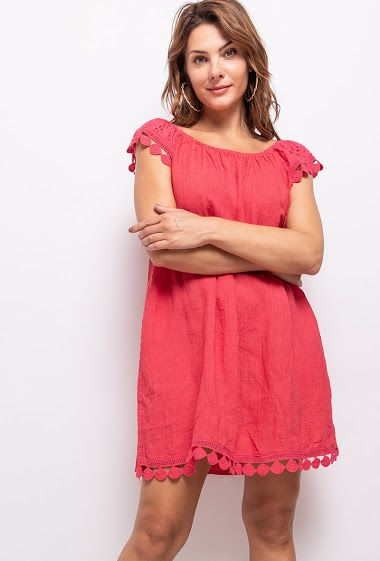 Tunic in Big Size in 100% linen - For Her Paris