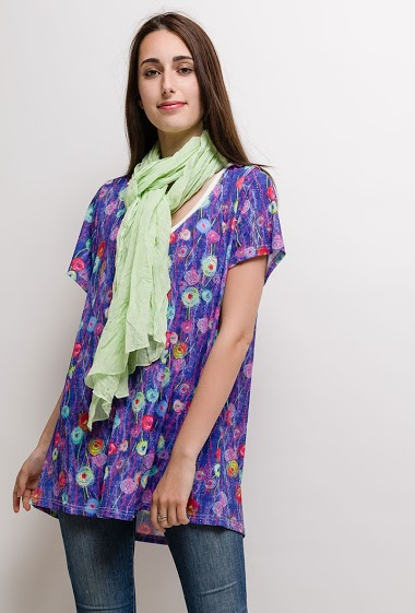 Printed Big Size Tunic ANITA - For Her Paris