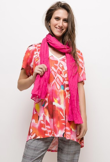Printed tunic LUDIVINE - For Her Paris