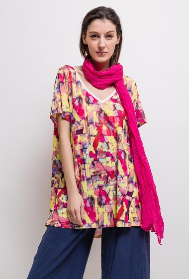 Printed tunic CINDY - For Her Paris