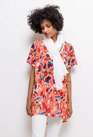Printed tunic ROMANE - For Her Paris