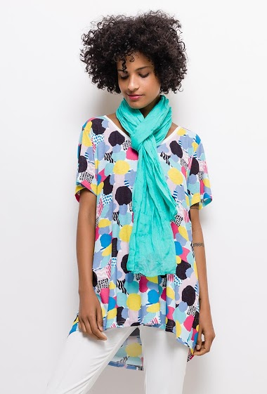Printed tunic YASMINE - For Her Paris
