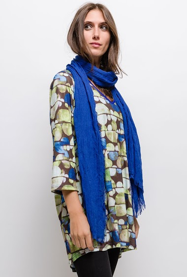 Big size Printed tunic - For Her Paris