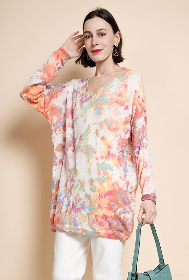 multicolored oversized tunic - For Her Paris