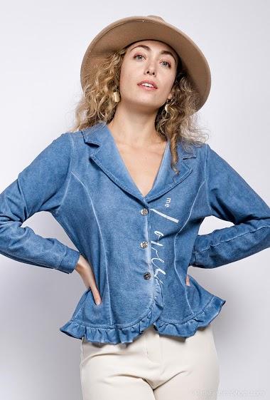 veste en coton avec écriture - For Her Paris