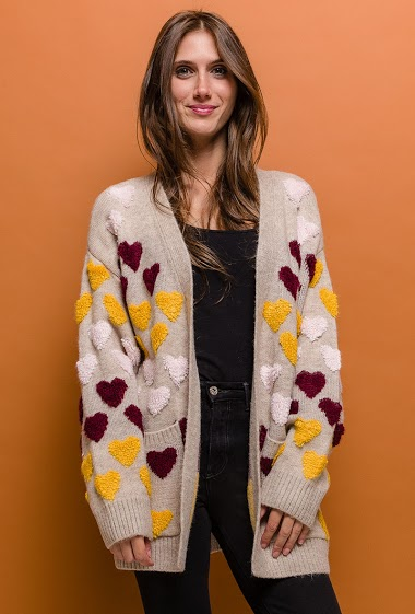 Printed knit jacket - For Her Paris