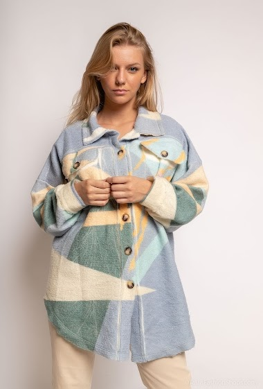 Printed oversized jacket - For Her Paris