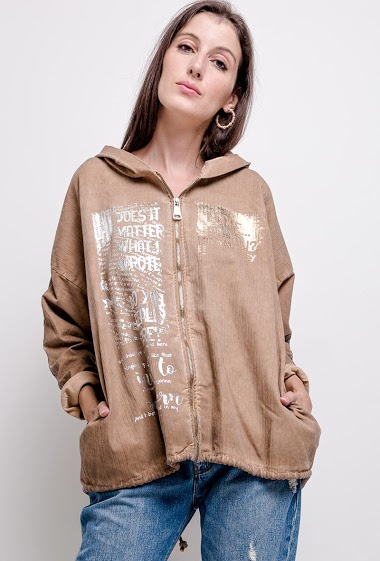 plain oversized jacket - For Her Paris