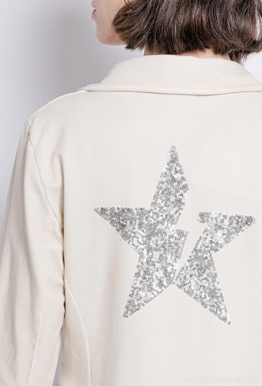 plain jacket with a star - For Her Paris