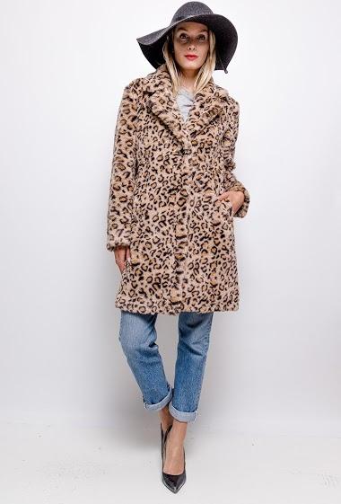 Manteau en fourrure léopard