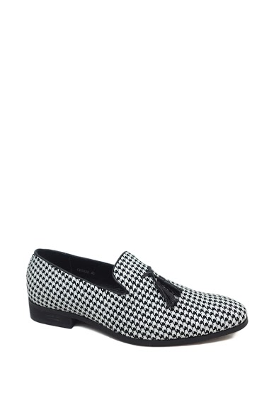 Printed men's tassel loafer