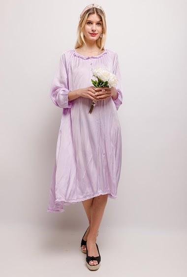 Satin loose dress