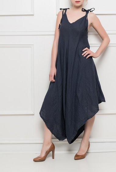Dress or jumpsuit, tie straps, loose fit - TU corresponds to T38-40