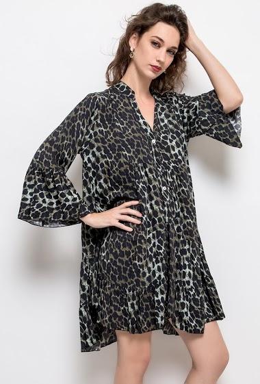 Robe ample à imprimé léopard