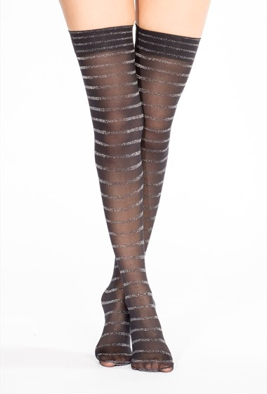 Woman Knee High socks with sparkling line and prom