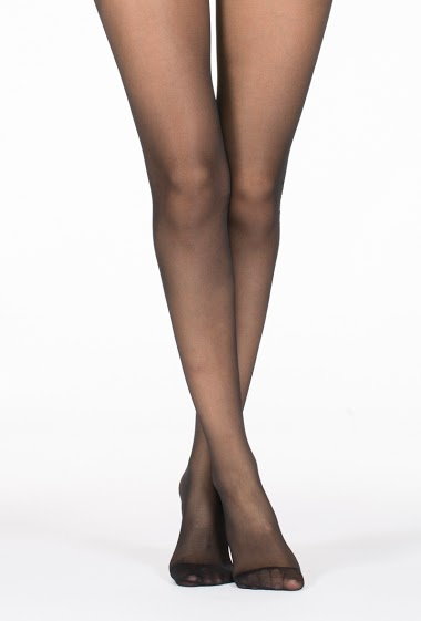 Transparent tights with pattern on one side (20 Den