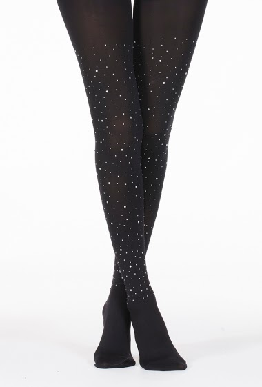 Opaque tights with glitter (80Den)