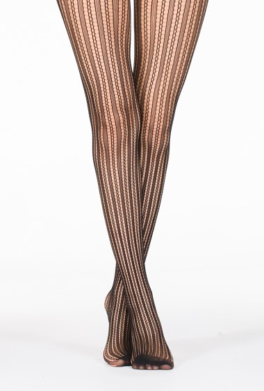 Stripe Patterns Fishnet Tights