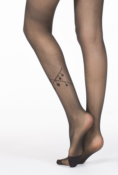 H&NATHALIE transparent tights with pattern CIFA FASHION