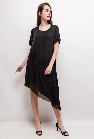 Asymmetric silky dress