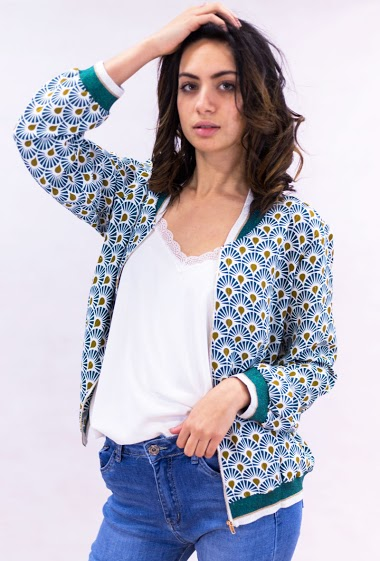 Bombers printed shiny collar - IT HIPPIE