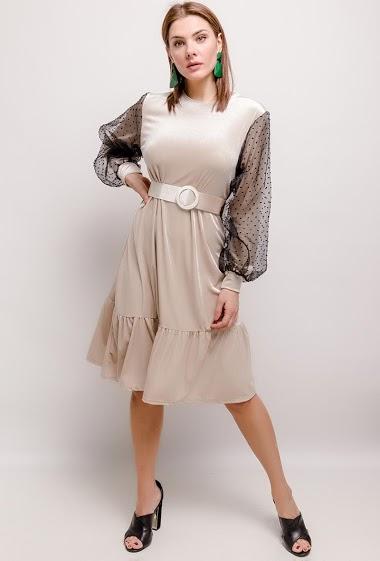 JASMINAH PARIS fluwelen jurk CIFA FASHION
