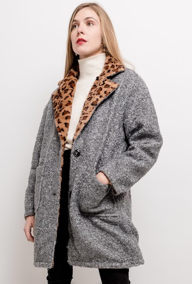 JAUNE ROUGE reversible coat FASHION CENTER