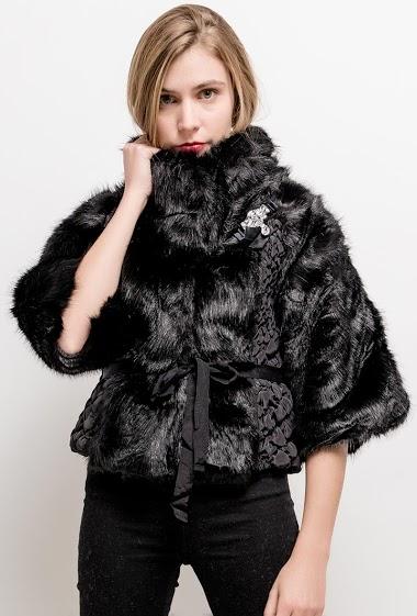 JAUNE ROUGE bi-material jacket FASHION CENTER