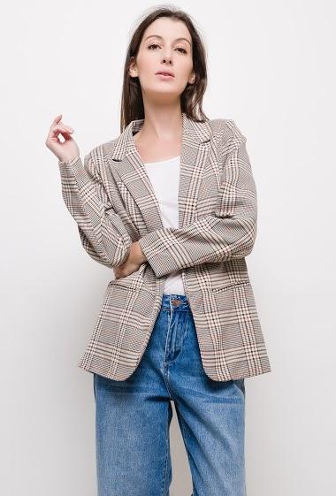 JCL PARIS chaqueta de cuadros CIFA FASHION