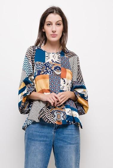 Printed fluid blouse