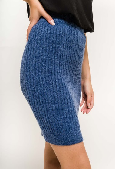 Elastic waist. The model measures 176cm, one size corresponds to 10/12(UK) 38/40(FR)