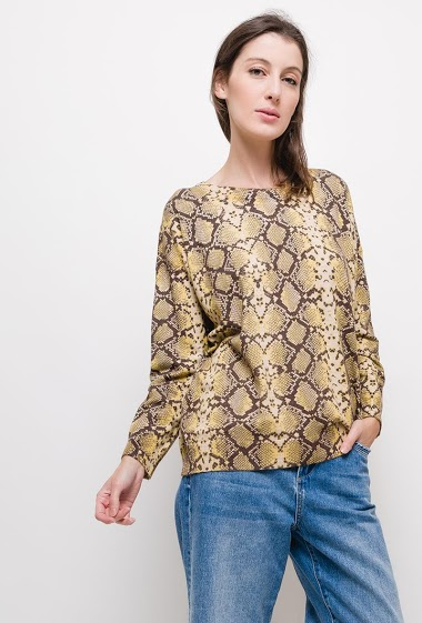 Snake print sweater