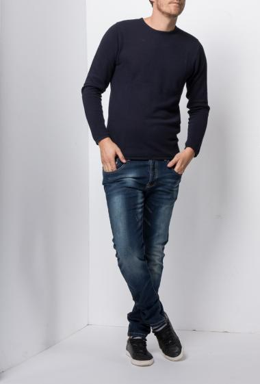 Stonewashed jeans, slim fit - Brand US Marshall
