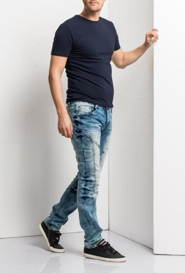 Fonctional faded jeans, slim fit. Brand US Marshall- Exists in grey