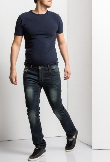Fonctional faded jeans, slim fit. Brand US Marshall