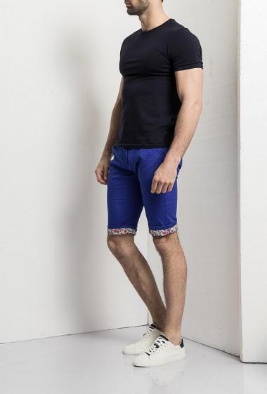 Shorts chino, 5 pockets, zip closure, liberty roll hem - Brand Us Marshall