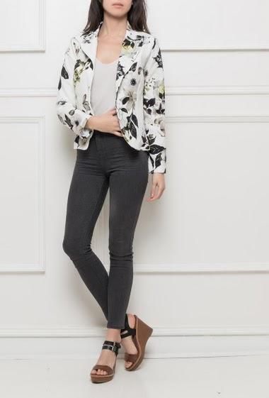 blazer fleuri jolifly paris fashion shops. Black Bedroom Furniture Sets. Home Design Ideas