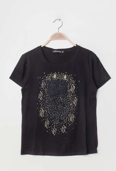 JOLIO & CO besticktes t-shirt mit strasssteinen FASHION CENTER