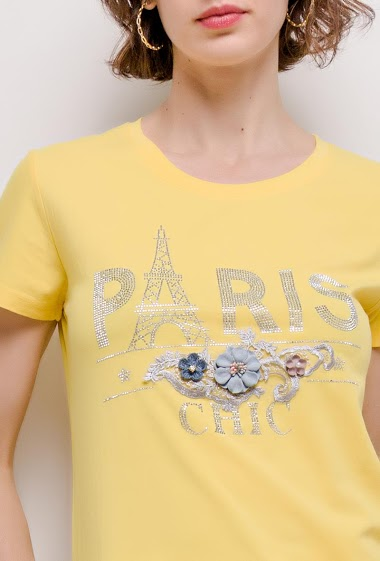 JOLIO & CO paris t-shirt with rhinestones FASHION CENTER