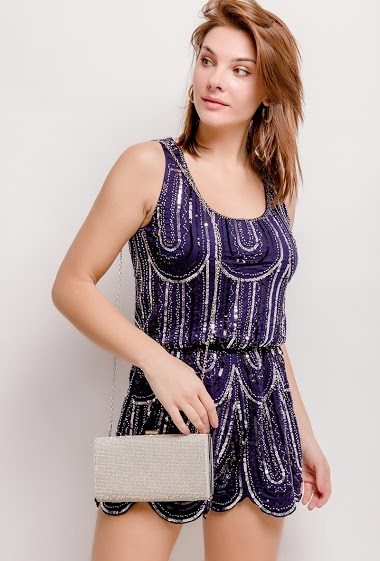 Playsuit with sequins