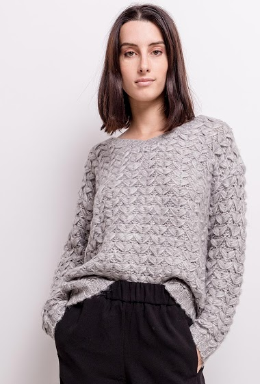 Textured soft sweater