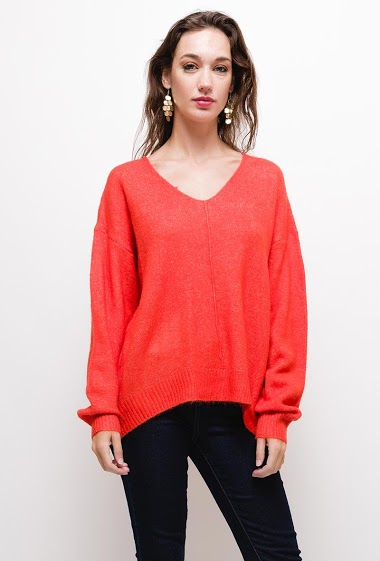 Soft sweater,The model measures 177cm, one size corresponds to 10/12(UK) 38/40(FR). Length:70cm